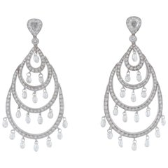 18 Karat Diamond Chandelier Earrings
