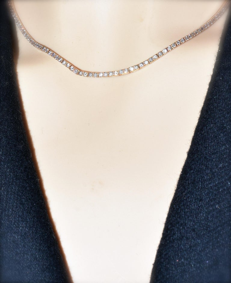 18 Karat Diamond Contemporary Necklace 2