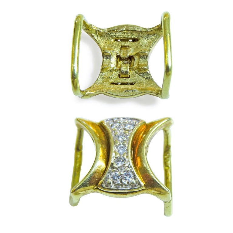 18K Yellow Gold  Weight= 2.1 gr  Diamond= 0.8 Ct total  Year= 1980
