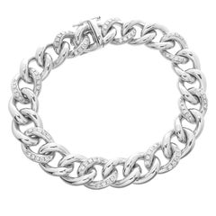 18 Karat Diamond Link Bracelet 41.7 Grams