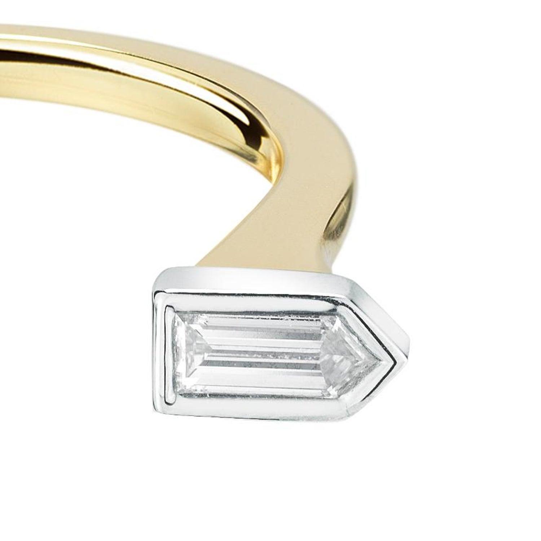 18 Karat Diamond Pistol Ring For