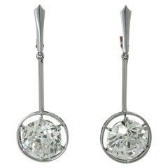 18k European-Cut Diamond Earrings