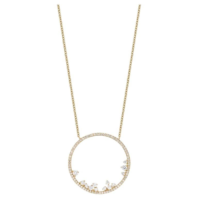 18k Gold, 0.82 Carat, F Color, VS Clarity, Diamond Eternity Pendant Necklace