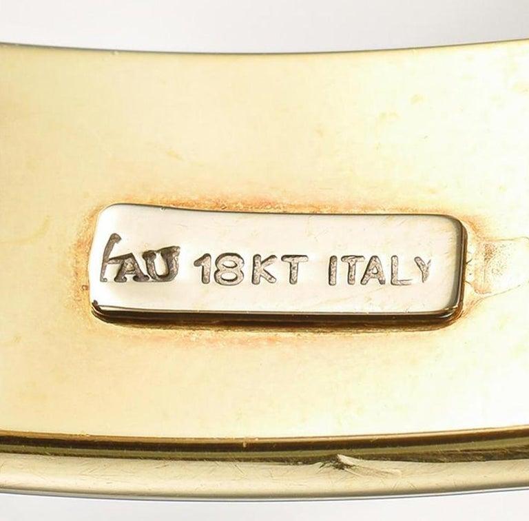 Oval Cut 18 Karat Gold Amethyst Hinged Bangle For Sale