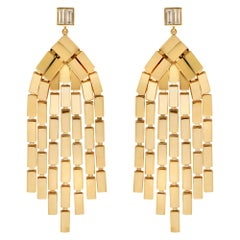 18 Karat Gold and Diamond Cascade Earrings