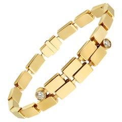 18 Karat Gold and Diamond Overlap Falls Bracelet