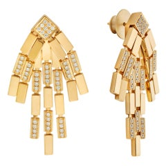 18 Karat Gold and Diamond Rapids Earrings