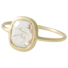 18 Karat Gold and Diamond Slice Ring by Allison Bryan