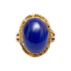 18k Gold and Lapis Lazuli Ring