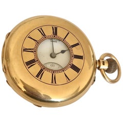 18K Gold Antique Half Hunter Pocket Watch by James McCabe, Royal Exchange London