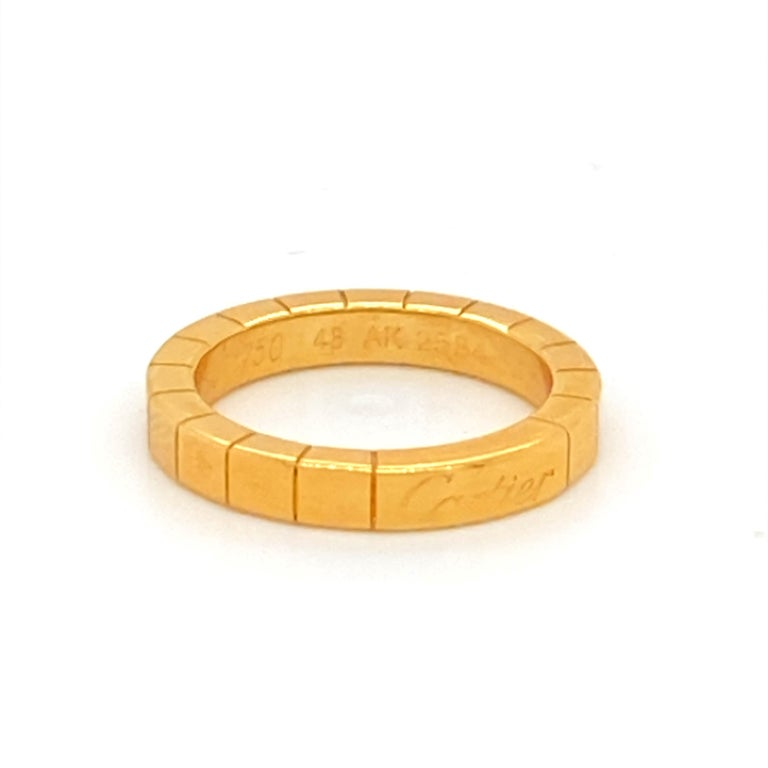 18K Gold Cartier Ring In Excellent Condition For Sale In Carlsbad, CA