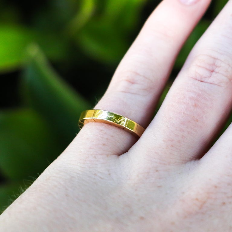 Women's 18K Gold Cartier Ring For Sale