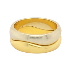18k Gold Cartier Wave Stack Rings