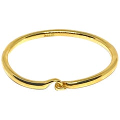 22 Karat Gold Clasp Bracelet by Romae Jewelry Inspired by an Ancient Design
