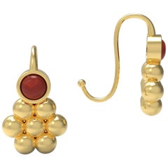 18 Karat Gold Cluster Earring by Romae Jewelry Inspired by an Ancient Design
