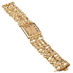 18-Karat Gold Corum for Cartier Wristwatch