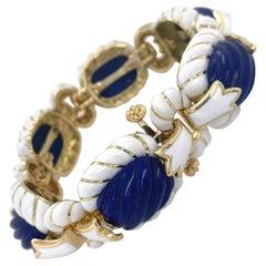 18k Gold David Webb Bracelet
