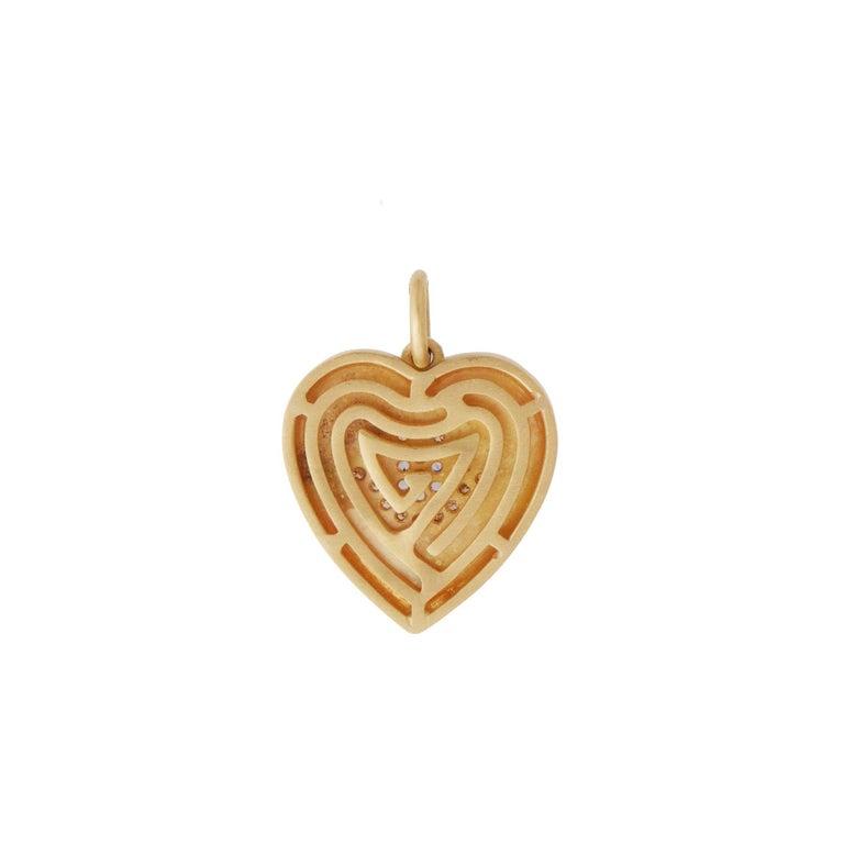18k Gold & Diamond Evil Eye Heart Bracelet For Sale 1
