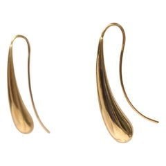 18 Karat Gold Drop Earrings, 1970s