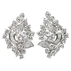 18k Gold Earrings with 4.50 Carats of Diamonds