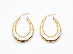 18 Karat Gold Hoop Earrings