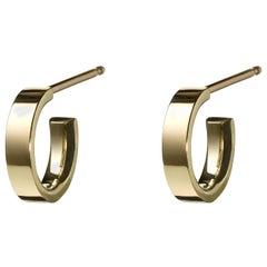 18 Karat Gold Huggies