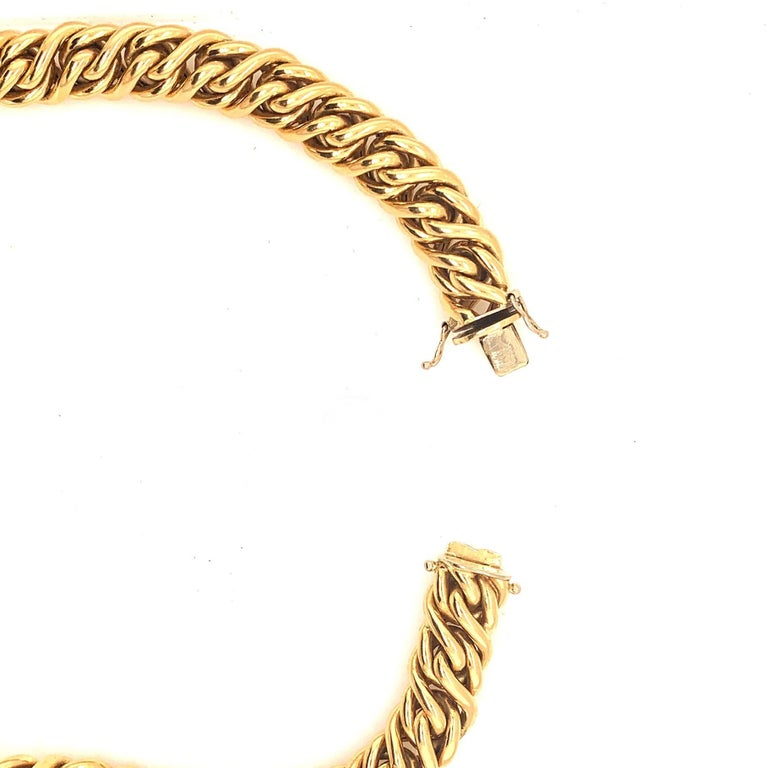 18 Karat Gold Italian Necklace In Excellent Condition For Sale In New York, NY