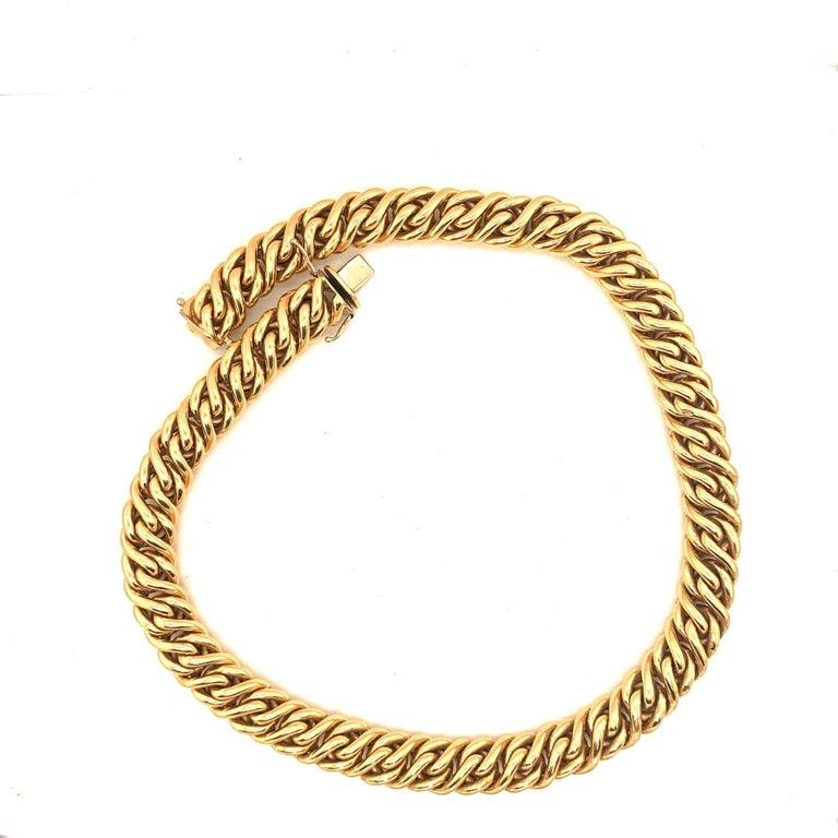 Women's or Men's 18 Karat Gold Italian Necklace For Sale