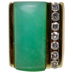 Jade & Diamond Cocktail Ring