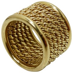 18k Gold Mesh Band Ring