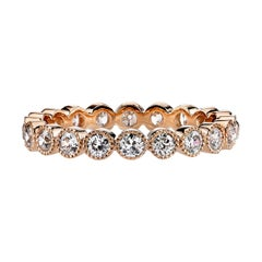1.00 Carat Old European Cut Diamonds Set in a Handcrafted Gold Eternity Band