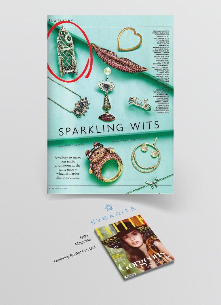 Contemporary Sybarite Jewellery 4.16 Carat Briolette Cut Diamond Pendant 18 Karat Gold For Sale