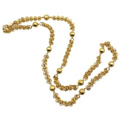 18k gold platted chain and bead necklace