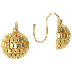 22 Karat Gold Shimmering Earrings by Romae Jewelry Inspired by Ancient Designs
