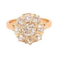 18k Gold Victorian Mine Cut Genuine Natural Diamond Ring 2.48 Carats TW '#J4894'