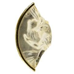 18 Karat Lalique Crystal Pendant