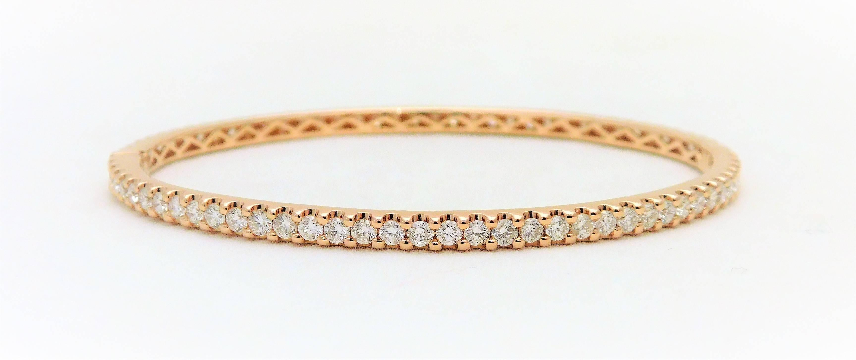 bracelet nicole diamond eternity bangle one alb rose row