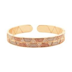 18 Karat Gold and 0.85 Carat White Diamond Element Bracelet by Alessa Jewelry