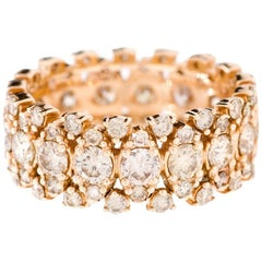 18K Rose Gold & 2.7 cts Cognac Diamonds Paradise Sunset Ring by Alessa Jewelry