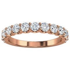 "18k Rose Gold Alina ""U"" Shape Diamond Ring '4/5 Ct. Tw'"
