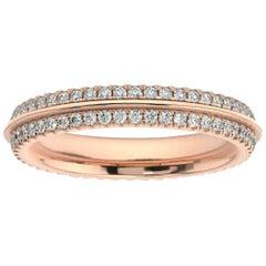 18K Rose Gold Allier Diamond Eternity Ring '1/2 Ct. Tw'