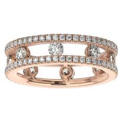 18K Rose Gold Asti Eternity Ring '1 1/2 Ct. tw'