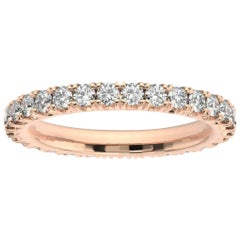 18K Rose Gold Audrey French Pave Eternity Ring '1 Ct. tw'