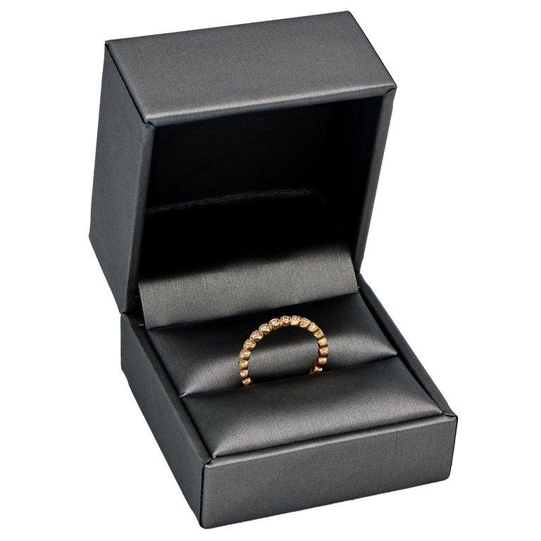 Contemporary 18 Karat Rose Gold Bezel Set Eternity Ring For Sale