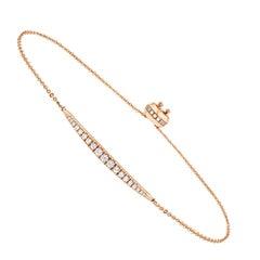18k Rose Gold Bolo Diamond Bracelet '1/2 Ct. Tw'