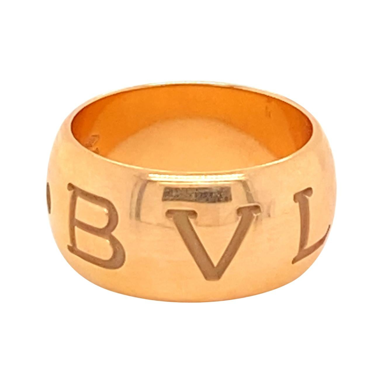 18k Rose Gold Bvlgari Monologo Ring