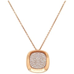 18 Karat Rose Gold Carnaby Street Diamond Pendant Necklace Roberto Coin