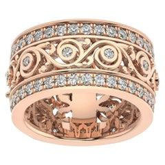 18k Rose Gold Charlotte Royal Diamond Ring '1 1/2 Ct. tw'