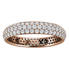 18K Rose Gold Christa Three Row Eternity Diamond Ring '4/5 Ct. Tw'