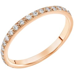 Eighteen Karats Rose Gold Diamond Eternity Ring Measuring Two Millimeter